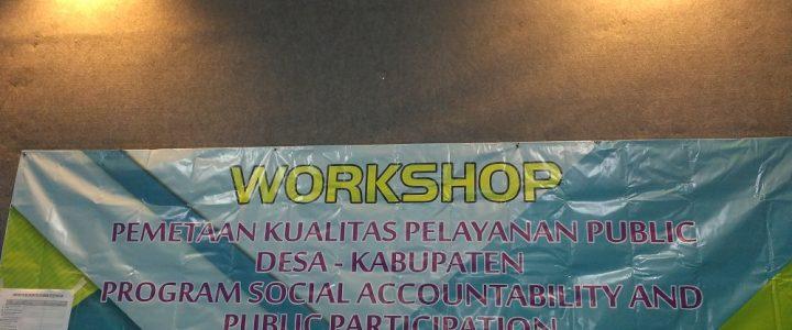 Workshop Pemetaan Kualitas Pelayanan Publik Desa-Kabupaten